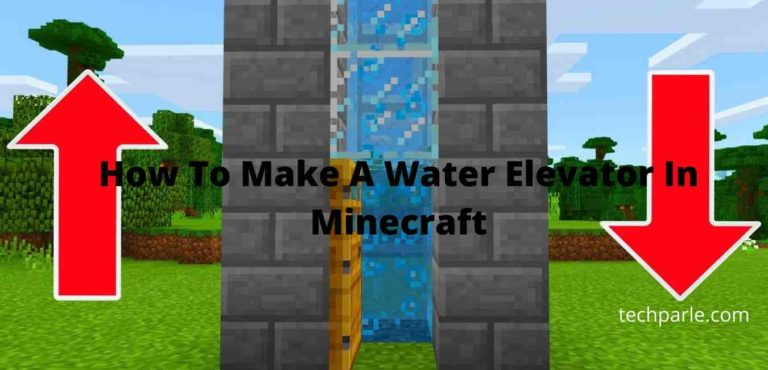 how to make a water elevator in minecraft