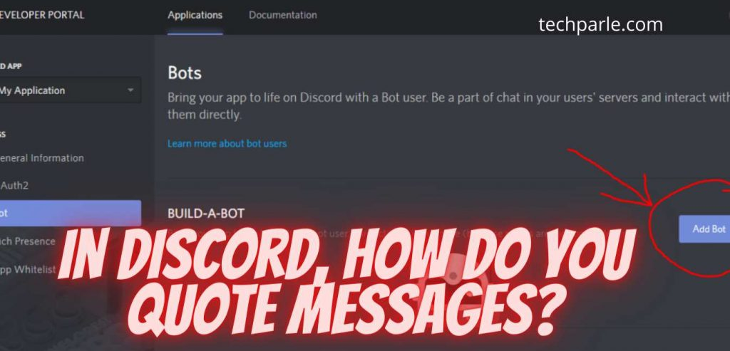 how to quote in discord